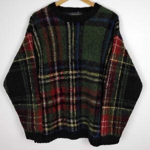 Banana Republic Wool Plaid Oversize Sweater